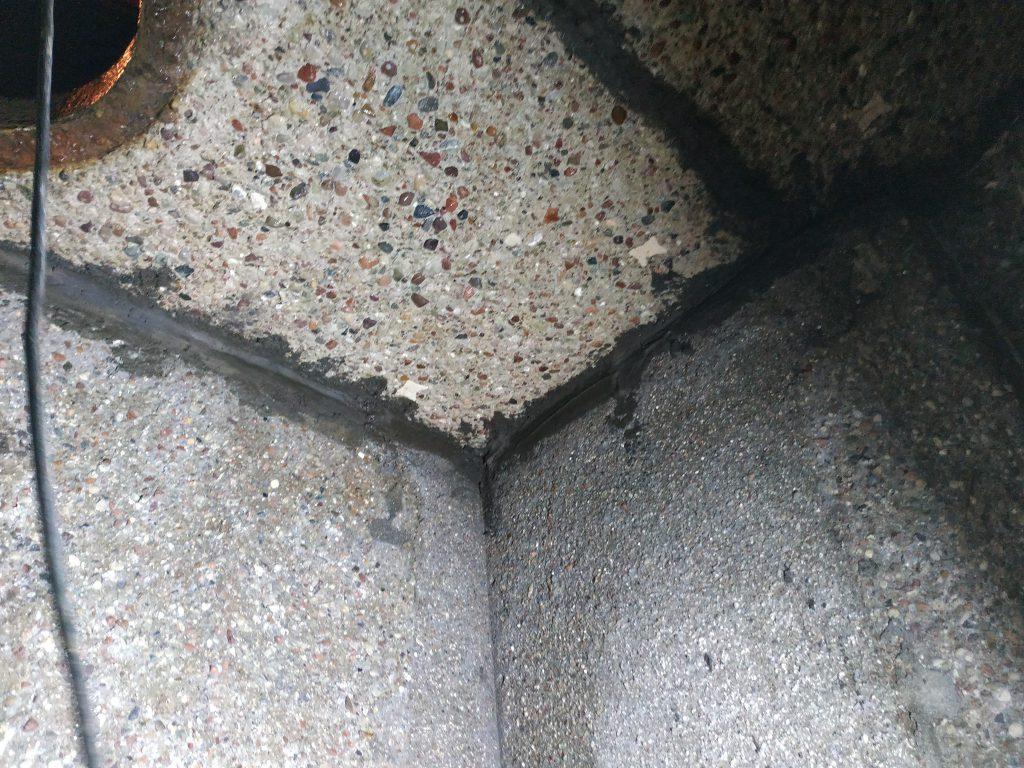 Fot 2.1 powierzchnia po czyszczeniu, komora przylegająca