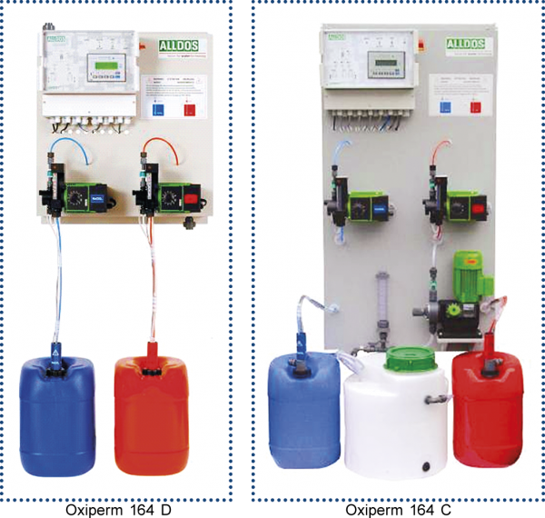 Fot. 1. Instalacja do produkcji dwutlenku chloru – Oxiperm 164 D oraz Oxiperm 164 C, firmy Grundfoss