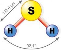 Rys. 1. Wzór chemiczny siarkowodoru