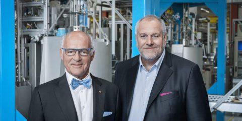 Fot. Dr Klaus Endress (po lewej), Prezes Rady Nadzorczej i Matthias Altendorf, Dyrektor Generalny Grupy Endress+Hauser.