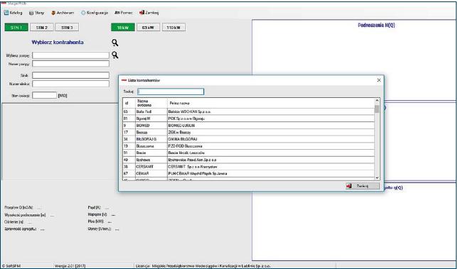 Rys. 4. Lista kontrahentów w oprogramowaniu SPMsystem