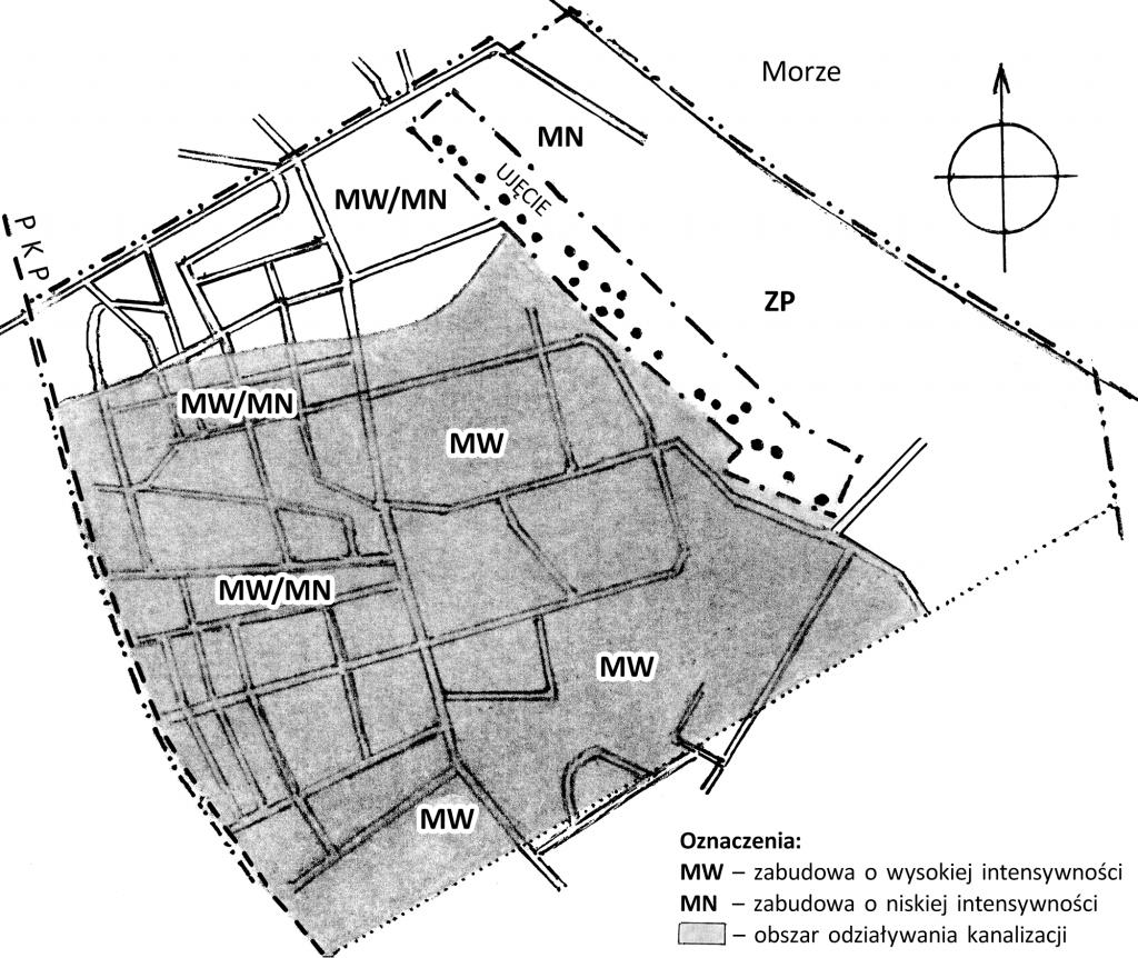 Rys. 7. Obszar oddziaływania kanalizacji