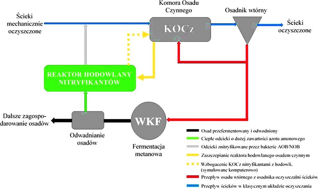 Rys. 4. Reaktor hodowlany w układzie technologicznym oczyszczalni ścieków