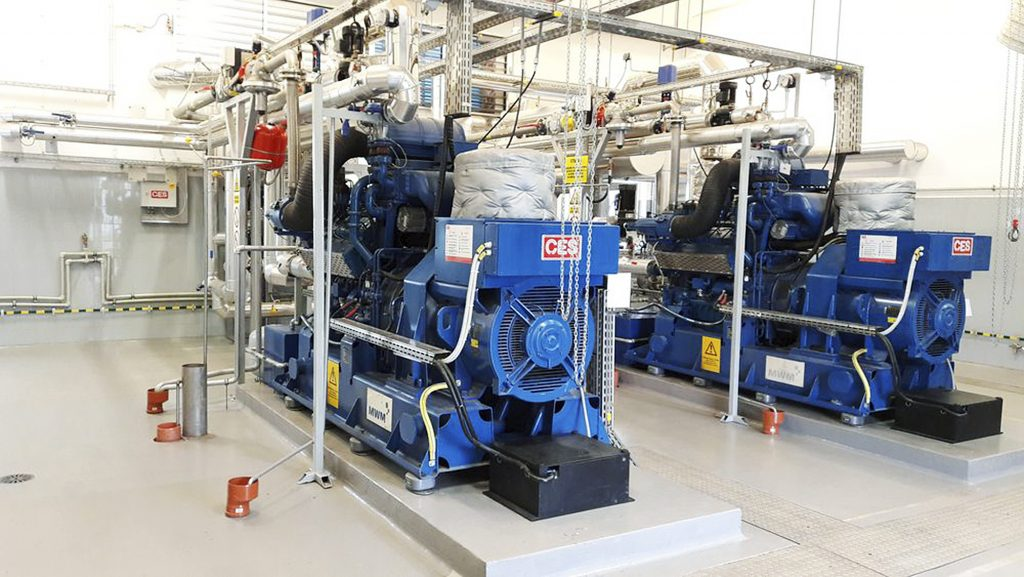 Fot. 6. Biogaz spalany jest w silnikach generujących energię elektryczną i cieplną