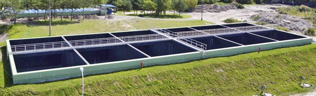 Fot. 2. Zbiornik ścieków deszczowych Vcz = 4800 m3
