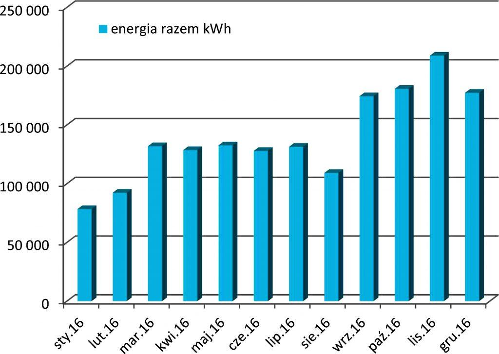 Rys. 3. Produkcja energii elektrycznej w 2016 roku