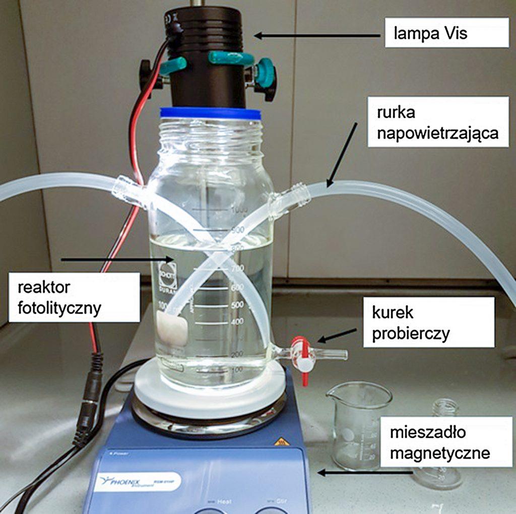 Rysunek 1. Stanowisko do badania rozkładu mikrozanieczyszczeń