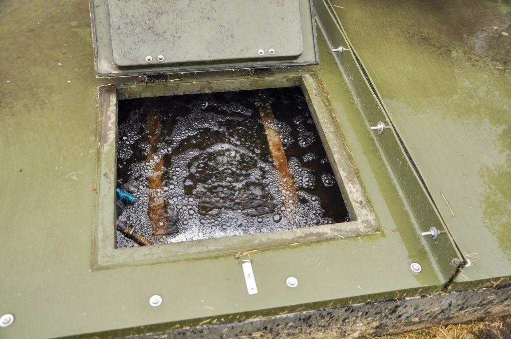 Rys. 8 Proces napowietrzania złoża zanurzonego