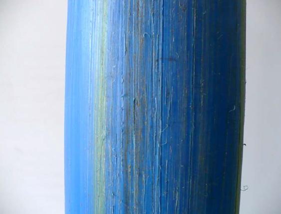 Rys. 10 Zarysowana rura polietylenowa po przeciśnięciu jej przez warstwę gruntu będąca w posiadaniu autora artykułu [zdjęcie własne]